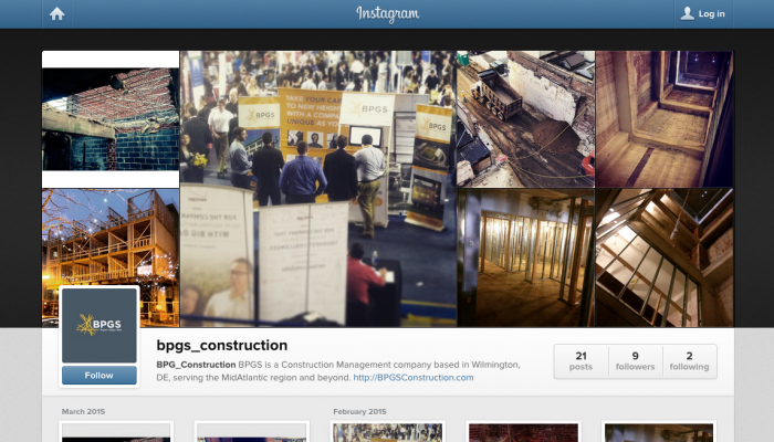 BPGS Construction Instagram Page