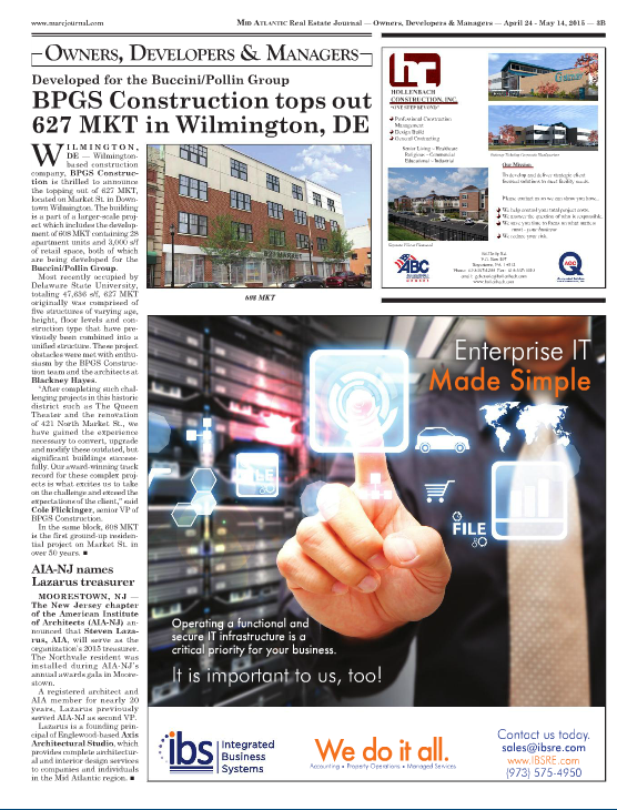 BPGS Construction in Mid Atlantic Real Estate Journal
