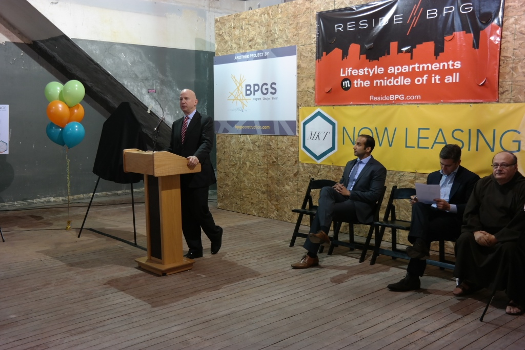 Governor Jack Markell at 627 Market Street a BPGS Construction Site
