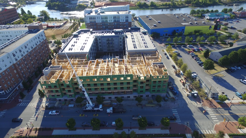 The Topping out of The Residences at Harlan Flats Phase II BPGS Construction