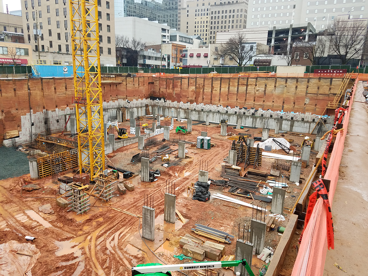 The Residences at Mid-town Park and Mid-town Park Garage Pour