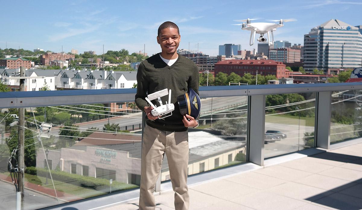Michael Edelin is Drone certified