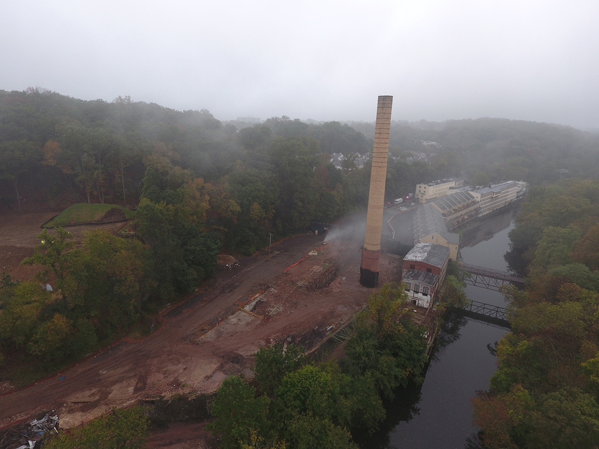 Bancroft mills tower implosion