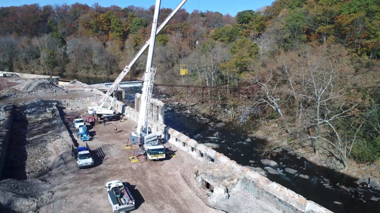 Rockford falls bridge removal BPGS Construction