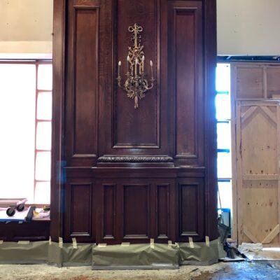 original flumed oak paneling
