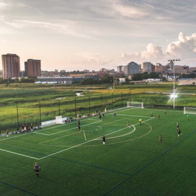 High School Soccer on Expansion Fields at Chase Fieldhouse